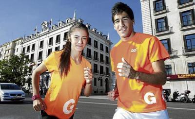 Alicia Portilla y Diego Cuadrado en una foto del Diario Montañés