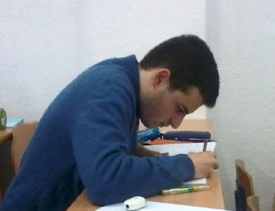 Luis Crespo durante la prueba